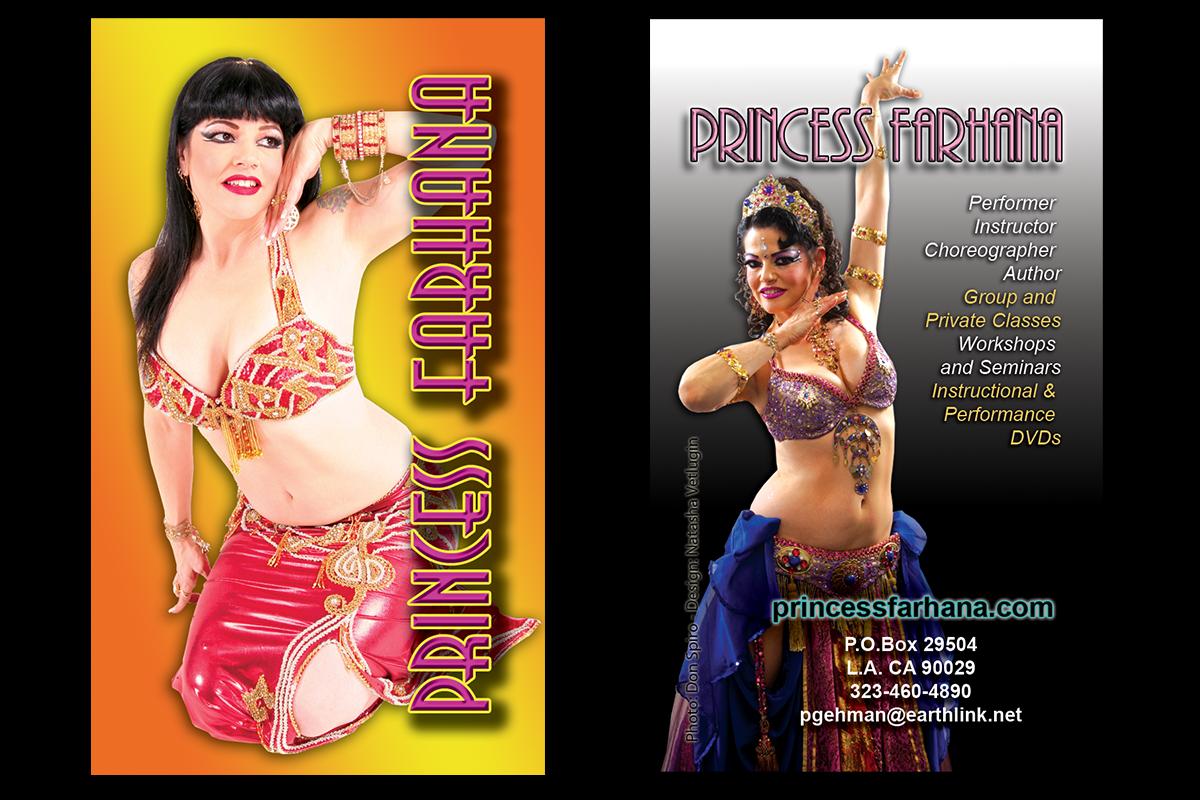 Princess Farhana business card