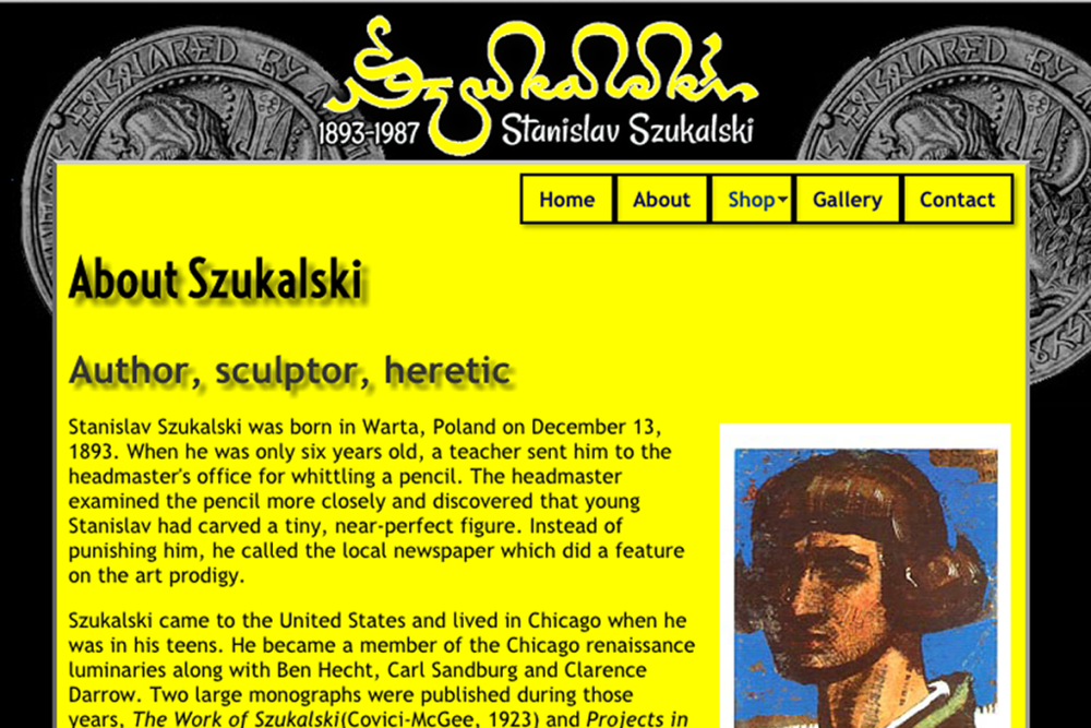 Szukalski official web site