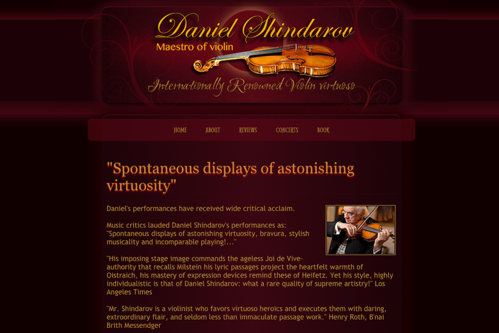 Daniel Shindarov official web site