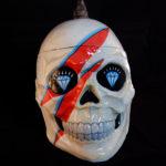 Large David Bowie Memorial Altar Skull