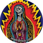 Skeleton Guadalupe Button