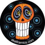 Swirl Eyes Skull Button