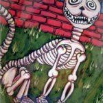 Skeleton Cat Card