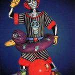 Skeleton Clown Card