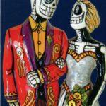 Skeleton Couple Card