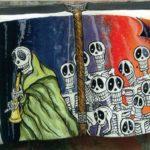 Skeleton Piper Card