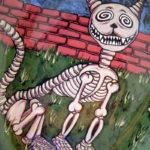 Skeleton Cat Platter