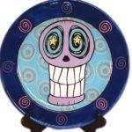 Skull Star Eyed Plate