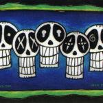 Row Of Skulls Sticker