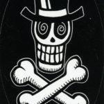 Crossbones In Tophat Sticker
