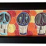 3 Skulls Orange Tile