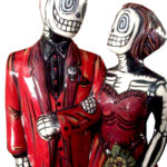Skeleton Couple in Red